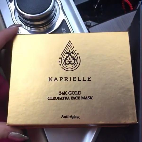 Маска из сусального золота kaprielle 24k gold mask цена